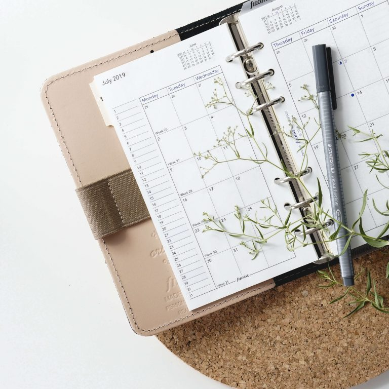 planner pages to get organised