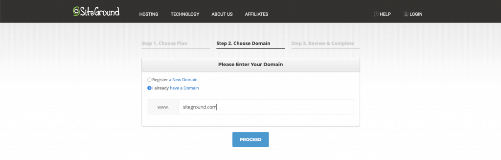 add your domain to siteground